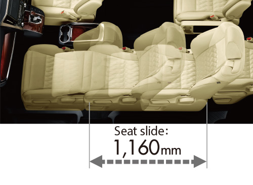 Super-long-slide passenger seat